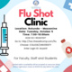 Flu Shot Clinic for Faculty, Staff & Students