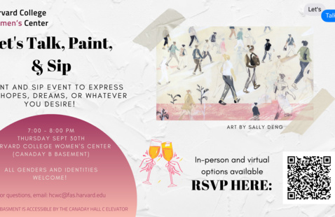 Lets talk and paint poster