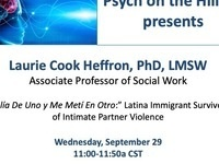 Psych on the Hilltop Research Presentation by Dr. Laurie Cook Heffron