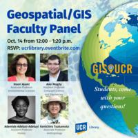 Faculty GIS Panel: Geospatial / GIS Meetups