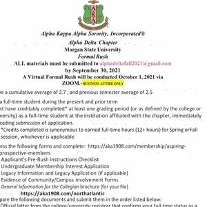 Membership Intake Flyer