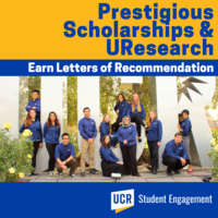 (UResearch/PSA) Earn Letters of Recommendation