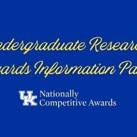 Undergraduate Research Awards Information Panel