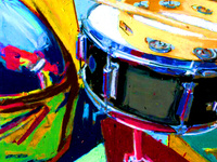 colorful artwork of drums