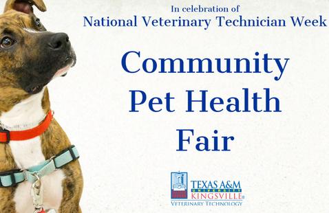 In celebration of National Veterinary Technician Week, Community Pet Health Fair