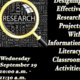 Designing Effective Research Projects With Information Literacy Classroom Activities  (Part One)