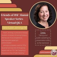 Friends of HSF Alumni Speaker Series Virtual Q&A featuring Karla Jennings '90