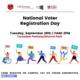 National Voter Registration Day