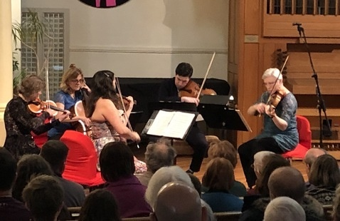 Chamber music ensemble of stringed instruments
