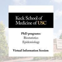 PhD programs in Biostatistics and Epidemiology Virtual Info Session