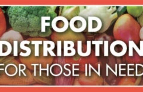 Community food Distribution event