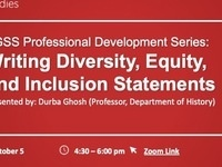 FGSS Professional Development Series: Writing Diversity, Equity, and Inclusion Statements