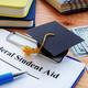 Books, Graduation Cap, Money, Federal Student Aid tablet and pen
