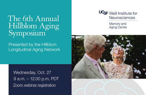 Flyer for 6th Annual Hillblom Aging Symposium