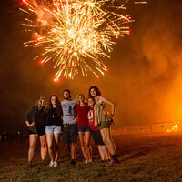Homecoming Bonfire and Fireworks Show