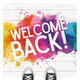 """Decorative image with """"Welcome Back"""" in text."""