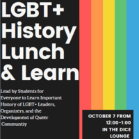 LGBT+ History Lunch and Learn Flyer