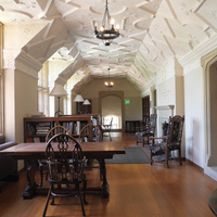 The Reading Room on the second floor, not usually open to the public