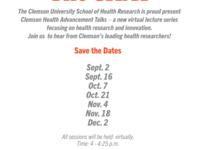The CHAT (Clemson Health Advancement Talks)