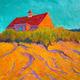 """Beach Dune"" by Artist Peter Batchelder  Oil on Canvas 36"" x 36"""
