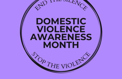 flyer for domestic violence awareness month