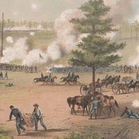 From J.H. Bufford Battle of Weldon Railroad lithograph