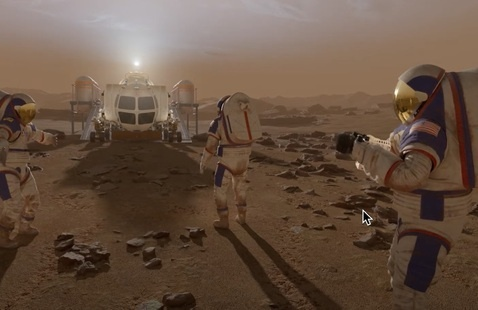 """A scene from the full dome video """" Mars"""" 1001"""""""
