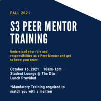 Student Support Services Peer Mentor Training