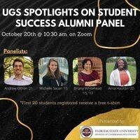 UGS Spotlights on Student Success Alumni Panel