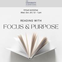 Graduate School Virtual Workshop: Reading with Focus & Purpose