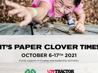 """""""It's Paper Clover Time!"""" - October 6-17, 2021 - Girl at camp"""