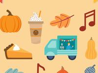 fall festival icons