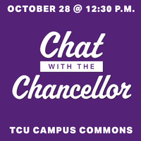 """Chat with the Chancellor: Student Fall """"Office Hours"""""""