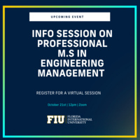 Professional M.S. in Engineering Management Information Session