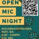 open mic night, first-gen celebration, Nov. 8 2-4pm, STC, SEC