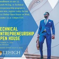 Thinking about a Career as an Innovator? Join us for M.Eng. in Technical Entrepreneurship Online Open House