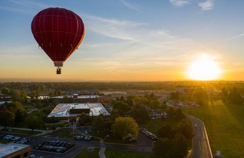 Hot Air Balloon above Aims campus