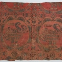 silk and embroidered textile