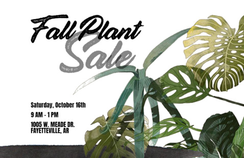 Fall Plant Sale Flyer