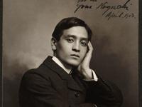 Inscribed portrait of Yone Noguchi to Charles Warren Stoddard, 1897, Bancroft Library, Berkeley, CA.