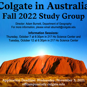 Fall 2022 Australia Study Group Information Session