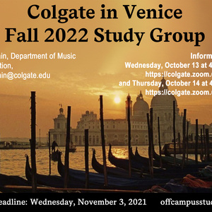 Fall 2022 Venice Study Group Information Session