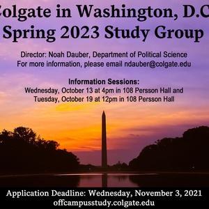 Spring 2023 Washington, D.C. Study Group Information Session