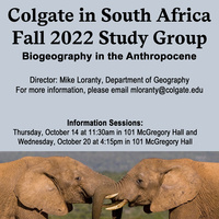 Fall 2022 South Africa Study Group Information Session