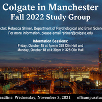 Fall 2022 Manchester Study Group Information Session