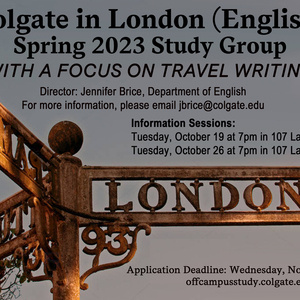 Spring 2023 London English Study Group Information Session