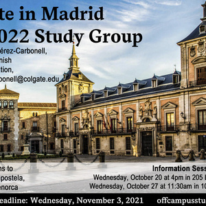 Fall 2022 Madrid Study Group Information Session