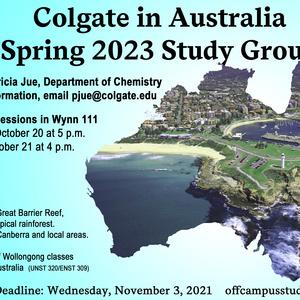 Spring 2023 Australia Study Group Information Session