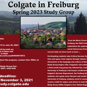 Spring 2023 Freiburg Study Group Information Session