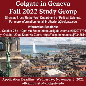 Fall 2022 Geneva Study Group Information Session